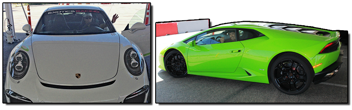 Ed and Anthony in exotic cars